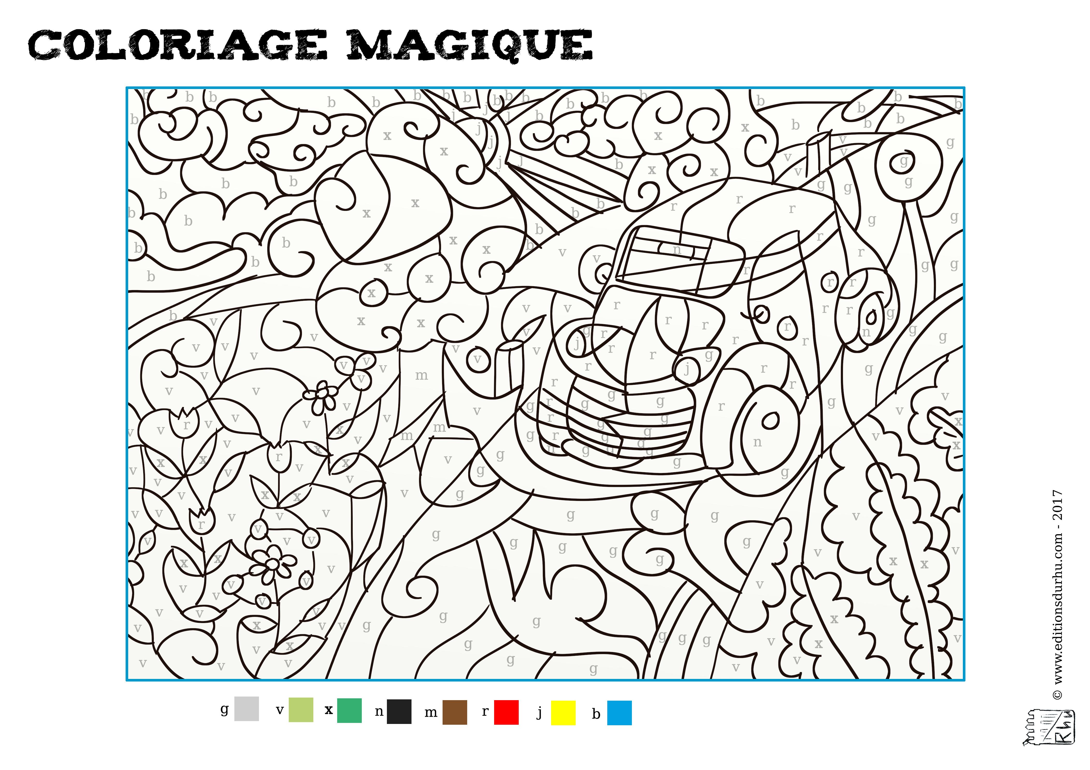 Coloriage Magique #3 - MAISON DU RHU