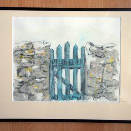 barrière bleue