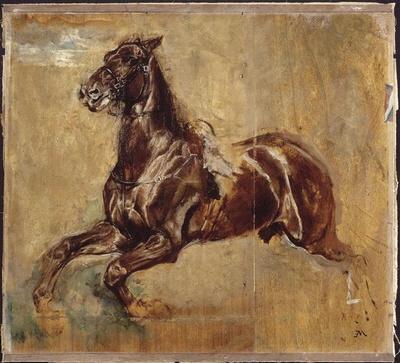 Ernest Meissonier – étude de cheval